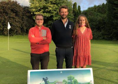 Les vainqueurs : Nicolas Maheut (Pro), Maxime Torres (H) et Sixtine de Cordes (F)